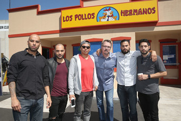 Vince Gilligan Michael Mando 'Better Call Saul' Los Pollos Hermanos Pop Up Restaurant in Downtown LA
