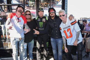 Vince Neil Celebrities At The Monster Energy NASCAR Cup Series Race At Auto Club Speedway