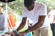 Vince Young, Heisman Trophy winner and Texas Longhorn legend, stopped by the Wendy's College Football Tailgate prior to Texas' game against USC on September 15, 2018 in Austin, Texas.