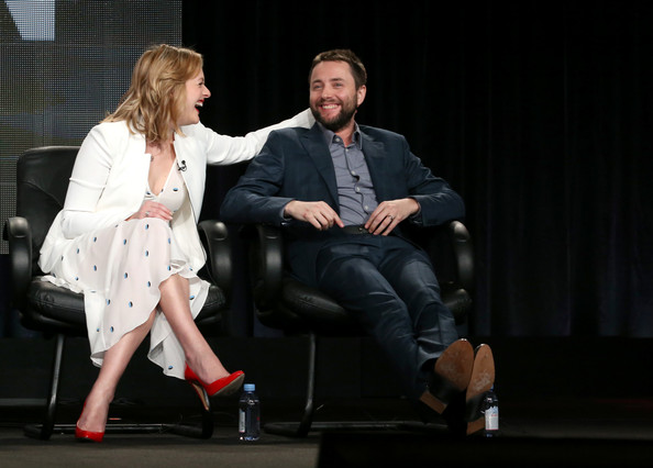 2015 Winter TCA Tour - Day 4 [mad men,fashion,performance,event,human,interaction,fashion design,sitting,footwear,performing arts,stage,vincent kartheiser,elisabeth moss,portion,langham hotel,pasadena,winter tca,amc,panel,press tour]