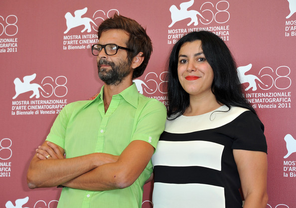 Marjane Satrapi with gracious, endearing, friendly, Husband Mattias Ripa