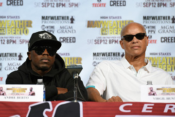 Virgil Hunter Floyd Mayweather Jr. v Andre Berto - News Conference