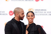 Marvin Humes (L) and Rochelle Humes attend the Virgin Media British Academy Television Awards 2019 at The Royal Festival Hall on May 12, 2019 in London, England.