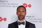 Rio Ferdinand winner of Single Documentary for 'Rio Ferdinand: Being Mum and Dad' poses in the press room at the Virgin TV British Academy Television Awards at The Royal Festival Hall on May 13, 2018 in London, England.