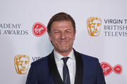 Sean Bean winner of the Leading Actor award for 'Broken' poses in the press room at  the Virgin TV British Academy Television Awards at The Royal Festival Hall on May 13, 2018 in London, England.