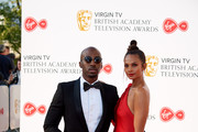Azuka Ononye and Alesha Dixon attend the Virgin TV British Academy Television Awards at The Royal Festival Hall on May 13, 2018 in London, England.