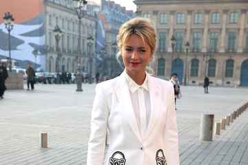 Virginie Efira Celebrity Sightings : Day Two - Paris Fashion Week- Haute Couture Spring Summer 2017