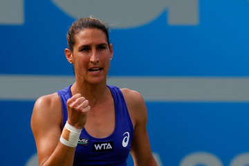 Virginie Razzano Aegon Classic: Day 3