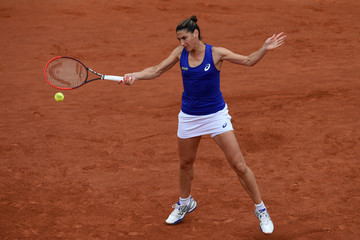 Virginie Razzano 2014 French Open - Day Two