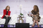 Gloria Steinem and Cleo Wade speak onstage during Visionary Women's celebration of Gloria Steinem in conversation with Cleo Wade at the Beverly Wilshire, A Four Seasons Hotel on November 18, 2019 in Beverly Hills, California.
