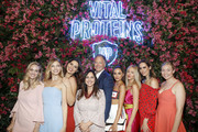 (L-R) Caryn Johnson, Niamh Adkins, Bella Golden, Jen Beechen, Kurt Seidensticker, Olivia Culpo, Shea Marie, and Louise Roe attend the Vital Proteins Launches Feed Your Beauty Popup Store in Soho NYC on September 5, 2018 in New York City.