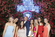 (L-R) Niamh Adkins, Bella Golden, Kurt Seidensticker, Olivia Culpo, Shea Marie, and Louise Roe attend the Vital Proteins Launches Feed Your Beauty Popup Store in Soho NYC on September 5, 2018 in New York City.