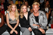 (L-R) Julie Mintz, Danielle Savre, Derek Warburton attend the Vivienne Hu front row during New York Fashion Week: The Shows at Gallery II at Spring Studios on September 7, 2018 in New York City.