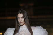 Image contains nudity.) US model Bella Hadid model walks the runway during the Vivienne Westwood show as part of the Paris Fashion Week Womenswear Fall/Winter 2020/2021 on February 29, 2020 in Paris, France.