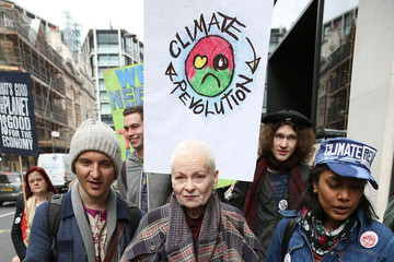Vivienne Westwood Vivienne Westwood Leads March in London