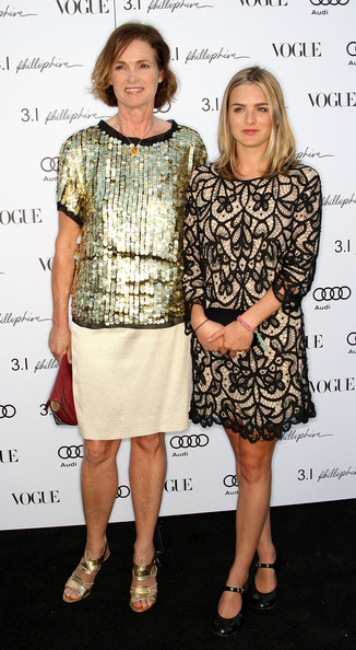Vogue's west editor Lisa Love (L) and her daughter attend Vogue's one year anniversary party at the Phillip Lim Los Angeles store on July 15, 2009 in West Hollywood, California.