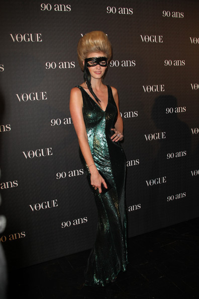 Lara Stone attends Vogue 90th Anniversary Party at Hotel Pozzo di Borgo on September 30, 2010 in Paris, France.