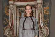 Eva Herzigova attends the Vogue Yoox Challenge - The Future of Responsible Fashion Dinner event at S. Paolo Converso on February 22, 2020 in Milan, Italy.