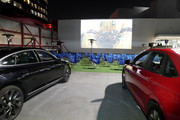 A general view of the atmosphere during the fourth annual Volkswagen Drive-In Movie with Shay Mitchell at the Petersen Automotive Museum on November 21, 2019 in Los Angeles, California.