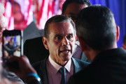 Former Los Angeles Mayor Antonio Villaraigosa (C) speaks with supporters at an election night party during his run for governor on June 5, 2018 in Los Angeles, California. California voters are casting ballots in important primaries across the state.