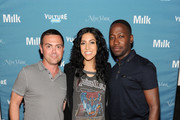 Actor Joe Lo Truglio, Actress Stephanie Beatriz and Actor Lamorme Morris attend Vulture Festival presented by New York Magazine at Milk Studios on May 11, 2014 in New York City.