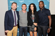 Television Personality Dave Holmes, Actor Joe Lo Truglio, Actress Stephanie Beatriz and Actor Lamorme Morris attend Vulture Festival presented by New York Magazine at Milk Studios on May 11, 2014 in New York City.