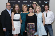 (L-R)  Brad Oscar, Laura Osnes, Susan Blackwell, Sarah Stiles, Jefferson Mays, Geneva Carr and Christian Borle attend the Vulture Festival At Milk Studios on May 31, 2015 in New York City.