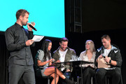 (L-R) Nick Viall, Katie Morton, Chris Bukowski, Cassie Randolph and Colton Underwood speaks onstage at Vulture Festival Presented By AT&T at The Roosevelt Hotel on November 09, 2019 in Hollywood, California.