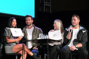 (L-R) Katie Morton, Chris Bukowski, Cassie Randolph and Colton Underwood speaks onstage at Vulture Festival Presented By AT&T at The Roosevelt Hotel on November 09, 2019 in Hollywood, California.