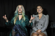 (L-R) Dascha Polanco and  Susan Kelechi Watson speak onstage at Vulture Festival Presented By AT&T at The Roosevelt Hotel on November 09, 2019 in Hollywood, California.