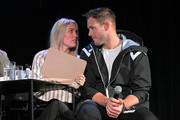 (L-R) Cassie Randolph and  Colton Underwood speaks onstage at Vulture Festival Presented By AT&T at The Roosevelt Hotel on November 09, 2019 in Hollywood, California.