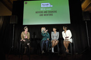 (L-R) Cameron Esposito, Dascha Polanco, Susan Kelechi Watson and Candice Patton speak onstage Vulture Festival Presented By AT&T at The Roosevelt Hotel on November 09, 2019 in Hollywood, California.