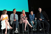 (L-R) Alison Brie, Danny Pudi, Gillian Jacobs, Ken Jeong and Chris McKenna speak onstage at Vulture Festival Presented By AT&T at The Roosevelt Hotel on November 10, 2019 in Hollywood, California.