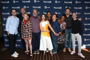 (L-R) Jesse David Fox, Chris McKenna, Gillian Jacobs, Dan Harmon, Alison Brie, Danny Pudi, Ken Jeong, Yvette Nicole Brown, Joel McHale and Jim Rash attend Vulture Festival Presented By AT&T at The Roosevelt Hotel on November 10, 2019 in Hollywood, California.