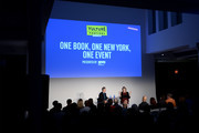 Editor-in-chief at New York magazine, Adam Moss (L) and novelist Jennifer Egan speak onstage during Vulture Festival presented by AT&T: One Book, One New York at Milk Studios on May 19, 2018 in New York City.
