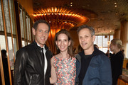 (L-R) New York Media Chief Revenue Officer Avi Zimak, New York Media CEO Pam Wasserstein, and New York Magazine Editor in Chief Adam Moss attend the Vulture Festival Presented By AT&T Opening Night Party at The Top of The Standard on May 18, 2018 in New York City.