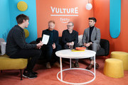 (L-R) Pat Regan, Jesse Tyler Ferguson, and Justin Mikita attend The Vulture Spot presented by Amazon Fire TV 2020 at The Vulture Spot on January 26, 2020 in Park City, Utah.