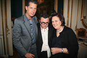 (L-R) Stefano Tonchi, Albert Elbaz and  Suzy Menkes attend the cocktail reception for W Magazine's editor-in-chief at the Hotel D'Evreux on May 19, 2010 in Paris, France.