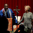 W. Franklyn Richardson Democratic Presidential Candidate Hillary Clinton Campaigns in New York