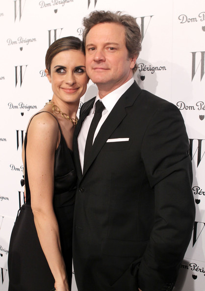 Actor Colin Firth (R) and wife Livia Giuggioli arrive at W Magazine's Celebration of The Best Performances Issue and The Golden Globes held at at Chateau Marmont on January 14, 2011 in Los Angeles, California.