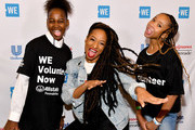Monique Coleman (C) and students attend WE Day UN 2019 at Barclays Center on September 25, 2019 in New York City.