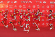 Dancers perform a Lantern Dance during the photocall at the Peninsula Hotel prior to the start of the WGC - HSBC Champions on November 4, 2014 in Shanghai, China.