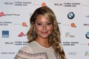 Holly Valance attends the WGSN Global Fashion Awards at Park Lane Hotel on May 14, 2015 in London, England.