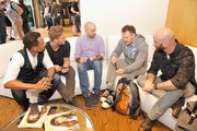 (L-R) Limitless actors Hill Harper and Jake McDorman, senior editor, WIRED Peter Rubin, Limitless director Marc Webb and Limitless producer Craig Sweeny attend WIRED Cafe at Comic Con 2015 in San Diego at Omni Hotel on July 9, 2015 in San Diego, California.