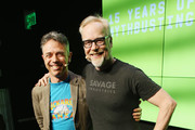 Adam Rogers (L) and Adam Savage attend WIRED25 Festival: WIRED Celebrates 25th Anniversary ? Day 2 on October 14, 2018 in San Francisco, California.