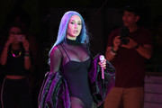 Rapper Iggy Azalea performs during the WNBA All-Star Game 2019 beach concert at the Mandalay Bay Beach at Mandalay Bay Resort and Casino on July 26, 2019 in Las Vegas, Nevada.