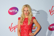Sabine Lisicki attends the annual WTA Pre-Wimbledon Party presented by Dubai Duty Free at The Roof Gardens, Kensington on June 25, 2015 in London, England.