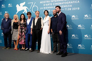 "(l-R) Michael Fitzgerald, Monika Bacardi, Olga Segura, Johnny Depp Mark Rylance, Gana Bayarsaikhan, Ciro Guerra and Andrea Iervolino attend ""Waiting For The Barbarians"" photocall during the 76th Venice Film Festival on September 06, 2019 in Venice, Italy."