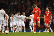 Wales player Aaron Ramsey (10) reacts after the 3rd Spain goal during the International Friendly match between Wales and Spain on October 11, 2018 in Cardiff, United Kingdom.