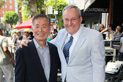 Actor George Takei (L) and husband Brad Altman attend Walter Koenig being honored with a star on the Hollywood Walk of Fame on September 10, 2012 in Hollywood, California.